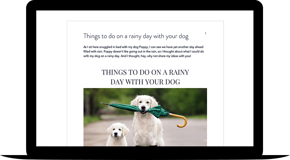 example blog post be dogwise the canine copywriter