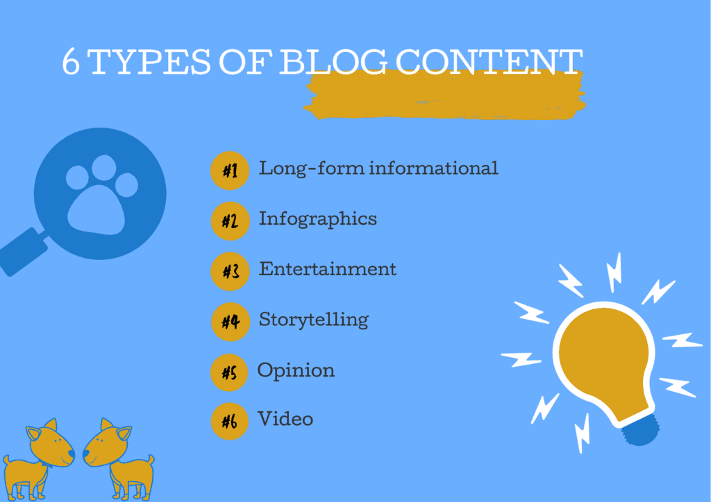 6 types of blog content 1